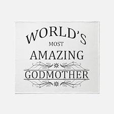 World's Most Amazing Godmother Throw Blanket