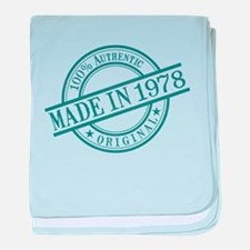 Made in 1978 baby blanket