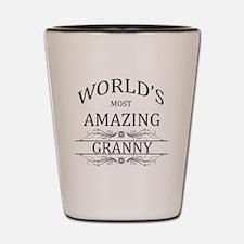 World's Most Amazing Granny Shot Glass