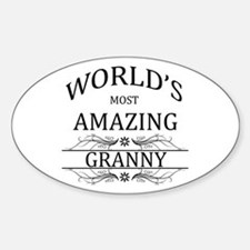 World's Most Amazing Granny Sticker (Oval)