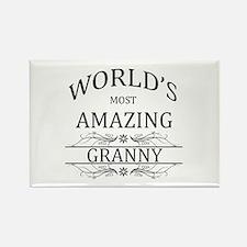 World's Most Amazing Granny Rectangle Magnet