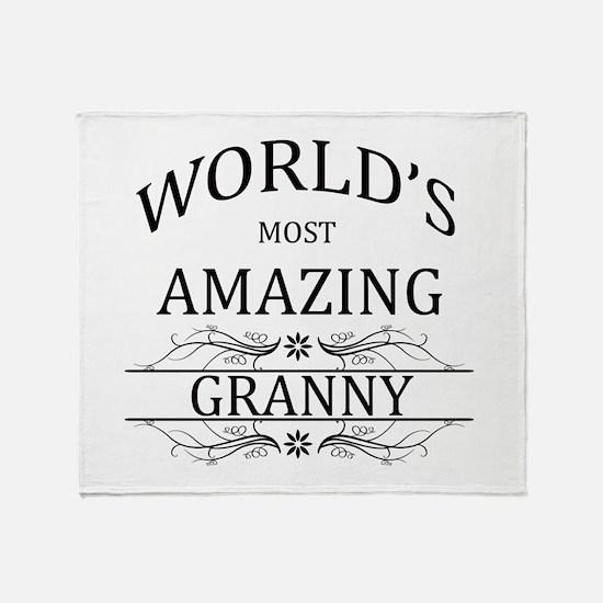 World's Most Amazing Granny Throw Blanket