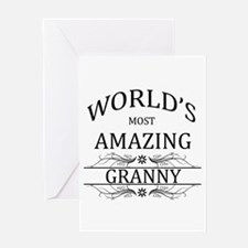 World's Most Amazing Granny Greeting Card