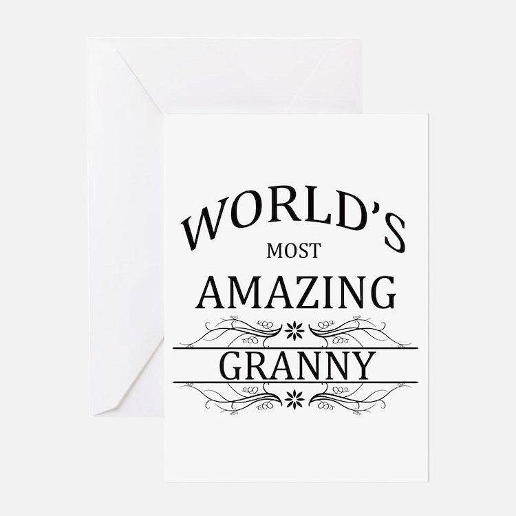 World's Most Amazing Granny Greeting Card