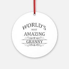 World's Most Amazing Granny Ornament (Round)