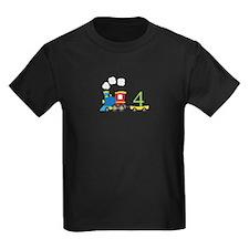 4th Birthday Train T-Shirt