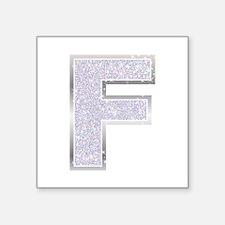 Sparkle Letter F Sticker