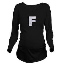 Sparkle Letter F Long Sleeve Maternity T-Shirt