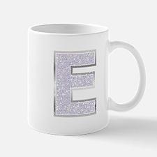 Sparkle Letter E Mugs