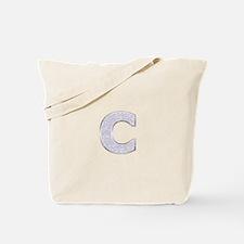 Sparkle Letter C Tote Bag