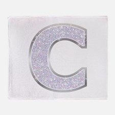 Sparkle Letter C Throw Blanket