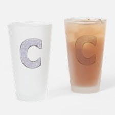 Sparkle Letter C Drinking Glass