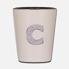 Sparkle Letter C Shot Glass