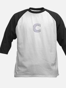 Sparkle Letter C Baseball Jersey
