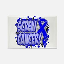 Screw Colon Cancer Rectangle Magnet