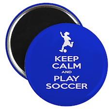 Play Soccer Girl Magnet