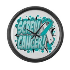 Screw Cervical Cancer Large Wall Clock