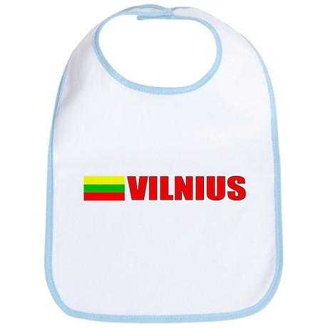 Vilnius, Lithuania Flag II Bib