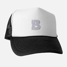 Sparkle Letter B Trucker Hat