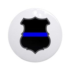 Blue Line Badge 1 Ornament (Round)