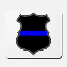 Blue Line Badge 1 Mousepad