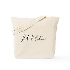 Kurt Cobain Signature Reproduction Tote Bag