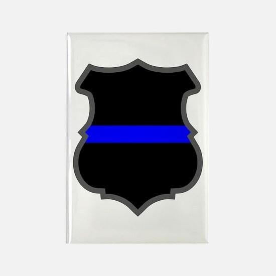 Blue Line Badge 1 Rectangle Magnet