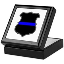 Blue Line Badge 1 Keepsake Box