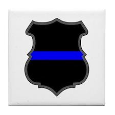 Blue Line Badge 1 Tile Coaster