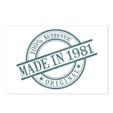 Made in 1981 Postcards (Package of 8)