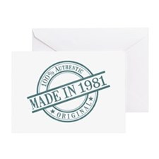 Made in 1981 Greeting Card