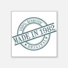 "Made in 1982 Square Sticker 3"" x 3"""