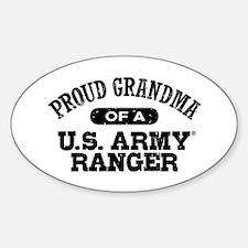 Army Ranger Grandma Sticker (Oval)