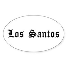Los Santos Sticker (oval)