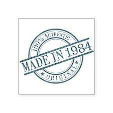 "Made in 1984 Square Sticker 3"" x 3"""