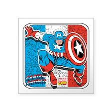 """Captain Action Square Sticker 3"""" x 3"""""""