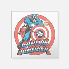 "Captain America Square Sticker 3"" x 3"""