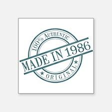 "Made in 1986 Square Sticker 3"" x 3"""