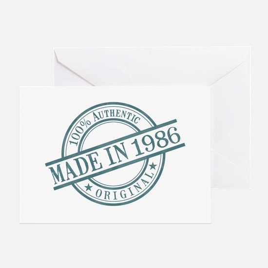 Made in 1986 Greeting Card
