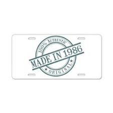 Made in 1986 Aluminum License Plate