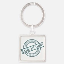 Made in 1986 Square Keychain