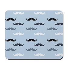 Cool Blue Mustaches Mousepad