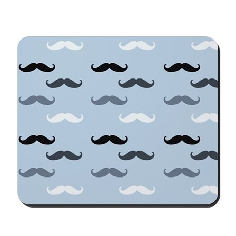Cool Blue Mustaches Mousepad