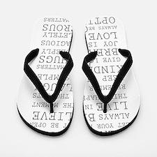 Positive Thoughts Flip Flops