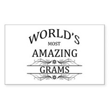 World's Most Amazing Grams Decal