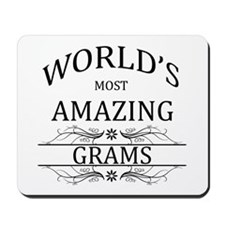 World's Most Amazing Grams Mousepad