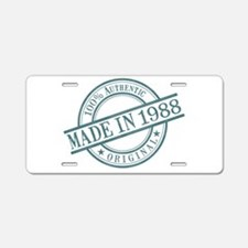 Made in 1988 Aluminum License Plate