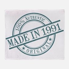 Made in 1991 Throw Blanket
