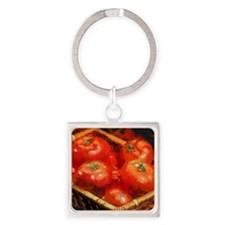 Tomatoes in April Square Keychain