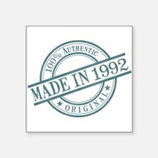 "Made in 1992 Square Sticker 3"" x 3"""